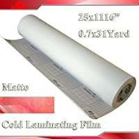 1116x25 (0.7x31yards) 3mil Matte Vinyl Cold Laminating Film Laminator