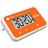 The Miracle Hover Kitchen Timer - Touchless Digital Countdown Timer, Orange, Hands-Free Control