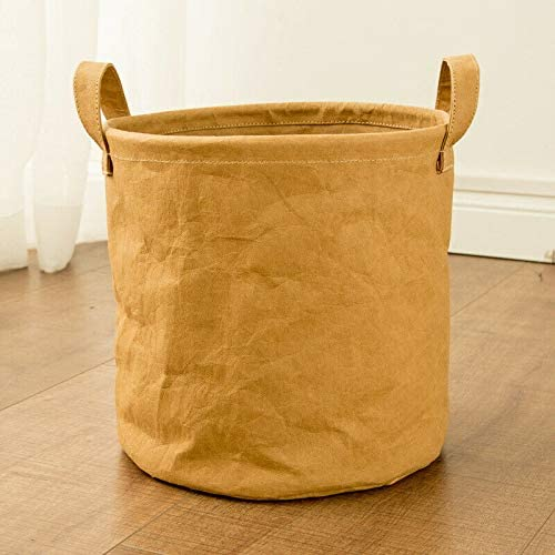 Gizayen Collapsible Laundry Basket Tall Round Hamper Storage Bag with Handle for Toy Clothes Storage Baskets Multi-Functional Environmentally Friendly and Non-Toxic Baby Laundry Basket