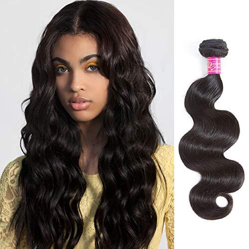 Queen Love Hair Brazilian Virgin Hair Body Wave 1 Bundles 100g Grade 8A Unprocessed Virgin Human Hair Weave Weft Natural Color 14inch