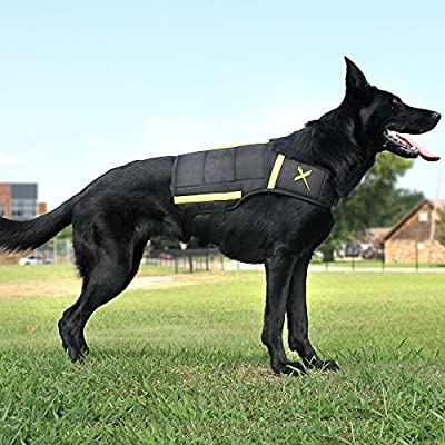 XDOG Weight Vest for Dogs, Durable Exercise Dog Vest To Help With Obesity, Anxiety and Help Improve Cardiovascular Health, For All Breeds, Free Weight Bags Included.