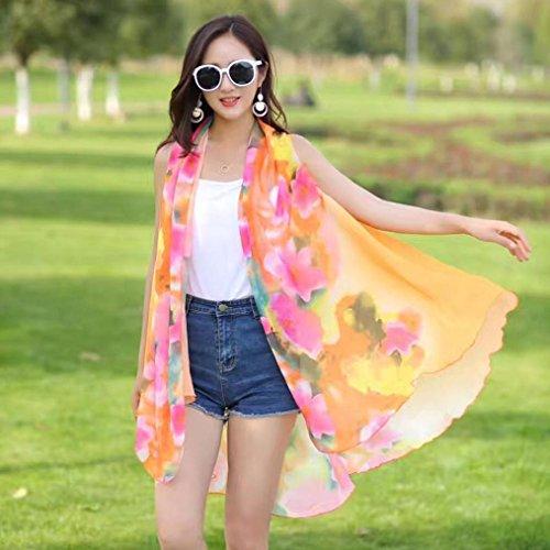 Camisa de Playa Chal Tops, VENMO Mujeres Verano Gasa Ropa Solar Bufandas Envoltura Naranja