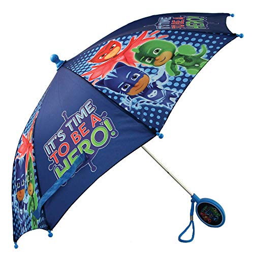 PJ Masks Boys' Little Character Rainwear Umbrella, Dark Blue, Age 3-6