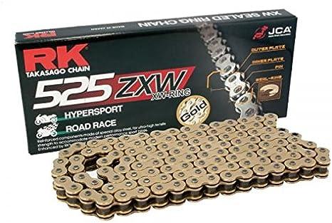 Rk Gold Ultra Hd Xw Ring Motorrad Kette 525 Zxw 122 Glieder Mit Nietschloss Auto