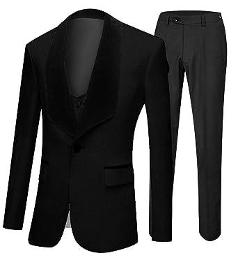Amazon.com: botong chal solapa boda trajes 3 piezas traje ...
