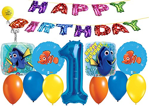 Finding Dory and Nemo Happy Birthday Balloon Bouquet]()