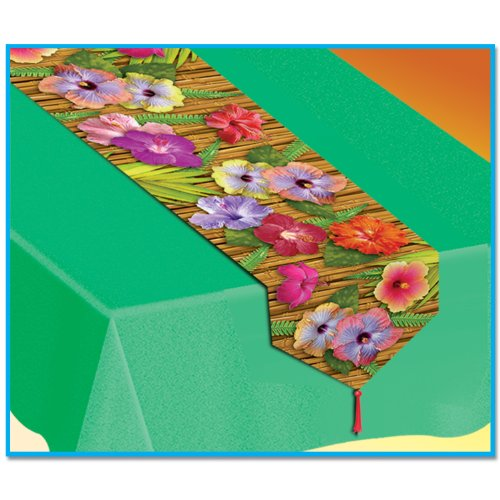 Printed Luau Table Runner Party Accessory (1 count) (1/Pkg)]()