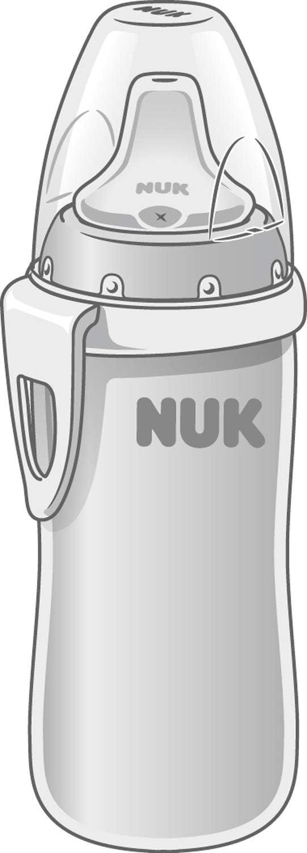 215/ml de capacidad rosa Rosa 1/pieza NUK Active Cup Cuerpo de la botella de acero inoxidable de alta calidad