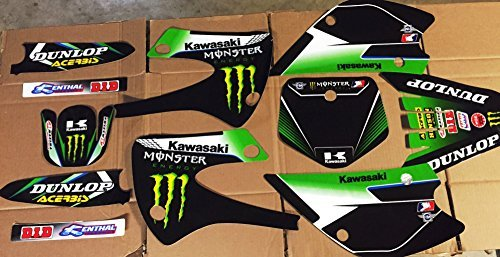 Amazon.com: Kawasaki KX 85 00-13 Graphics with backgrounds ...