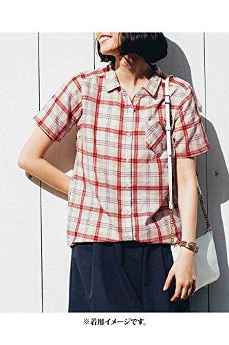 ドット覚醒行動リブ イン コンフォート すっきりシルエットで毎日着たくなる やわらかダブルガーゼ半袖シャツ〈ベージュチェック〉