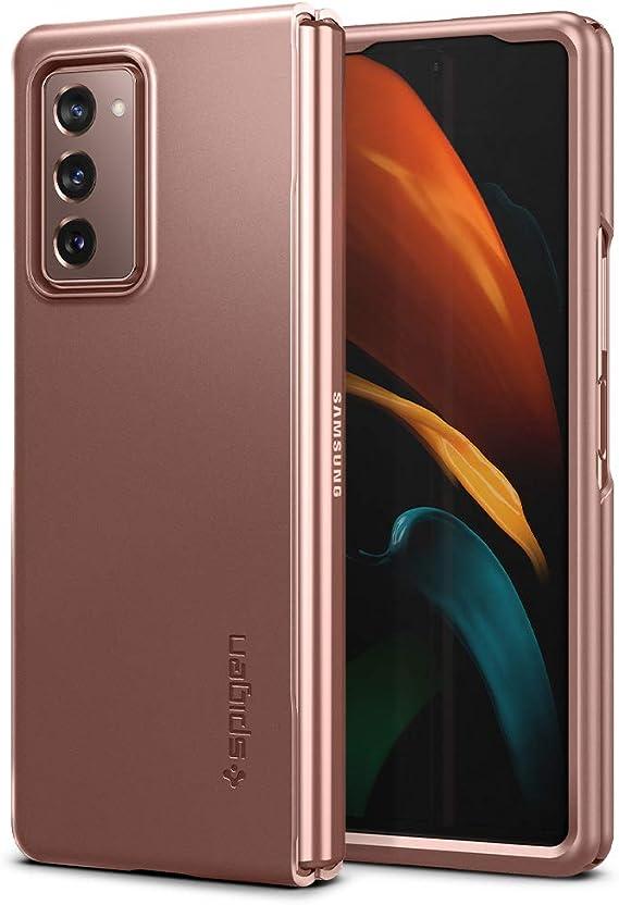 Amazon Com Spigen Thin Fit Designed For Samsung Galaxy Z Fold 2 Case 2020 Bronze