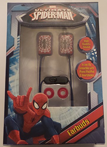 Sakar 4469202 Ultimate Spiderman Earbuds product image