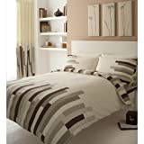 Blocks Duvet Set Colour: Cream / Brown, Size: Super King by Gaveno Cavailia