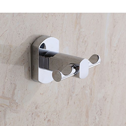 Simple fashion hooks/Bathroom accessories the bathroom/ wall-mounted double hook durable service