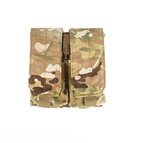 Outry M4 M16 AR-15 Type Magazine Pouch Mag Holder - Triple/Double/Single Airsoft MOLLE Mag Pouch - Velcro Closed Flap Version - Double - Multicam/CP