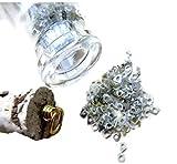 10 Carat, 3mm, Yellow Rough Diamond Bangle Cut Rings, Bottle Jewelry, Natural Diamond Glass Vial Pendant
