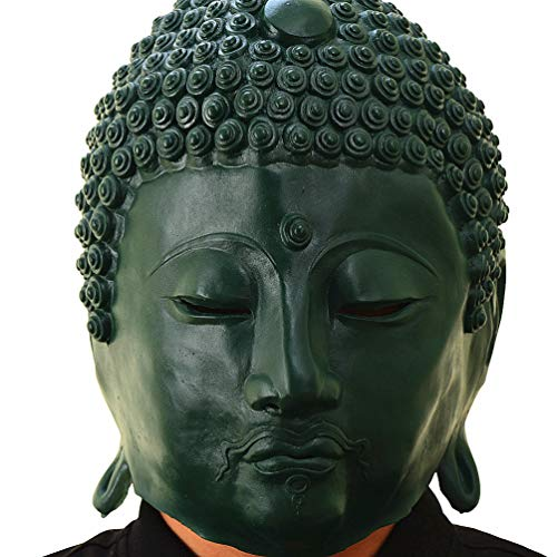 PARTY STORY Buddha Statue Mask Halloween Cosplay Costume Latex Animal Masks for Adults Party Decoration Props -