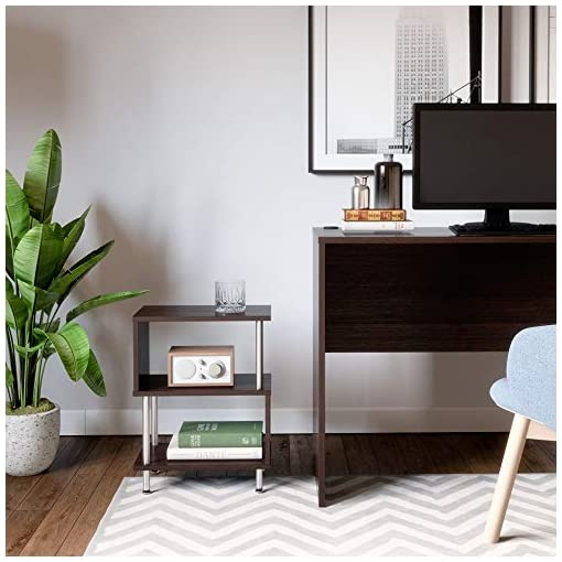 Bedroom Bestier Side Table 3 Tier S-Shaped, Small Nightstand Bedside Table End Table with Storage Shelves for Bedroom, Sofa… modern bedroom furniture