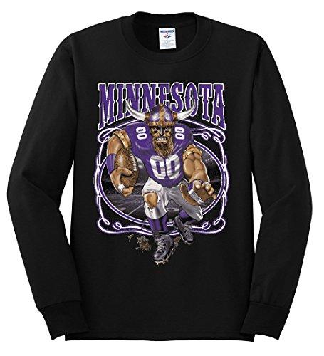 Wild Bobby Minnesota Fans | Min Fantasy Football | Mens Sports Long Sleeve T-Shirt, Black, 2XL