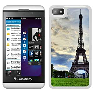Beautiful Designed Cover Case For Blackberry Z10 With Paris Effie Tower 2 White Phone Case