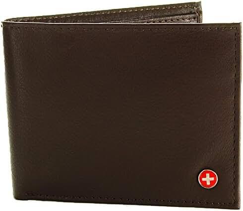 Alpine Swiss Men's Multi-Card Compact Center Flip Bifold Wallet