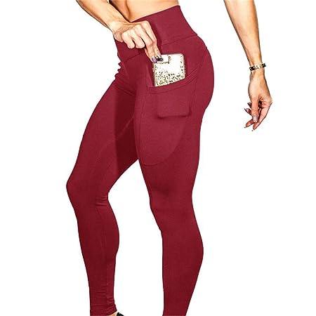 Yujiakz Pantalones de Yoga para Adelgazar Bolsillos para ...