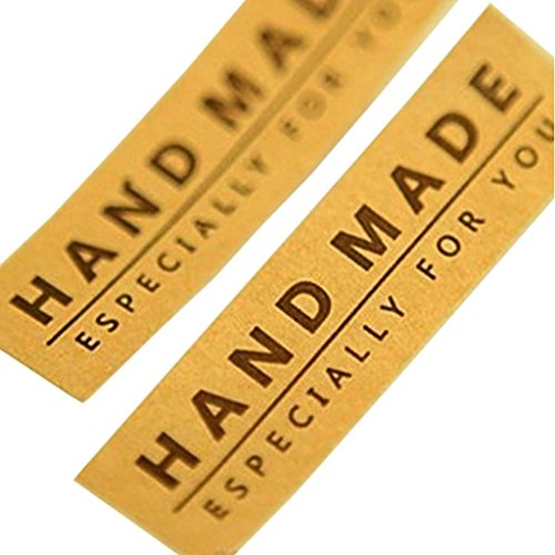 Hand Made Especially for you Brown Kraft Stickers