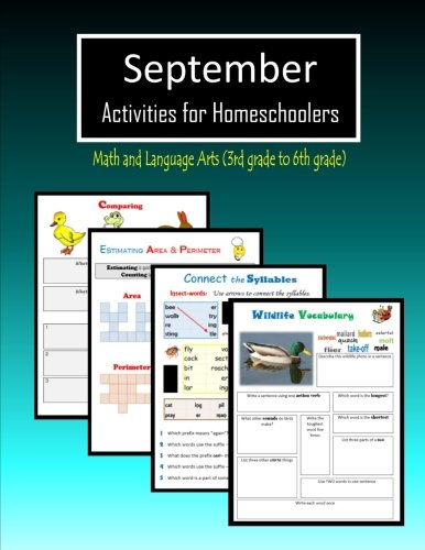September Activities for Homeschoolers: Math and Language arts (3rd grade to 6th grade) PDF