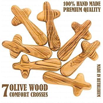 Amazon Com Holy Land Made Olive Wood Comfort Holding Palm
