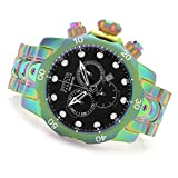 Invicta Mens 19764 Reserve Venom Swiss Made Chronograph Iridescent Stainless Steel Bracelet Watch