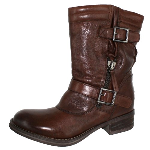 CLARKS WOMENS MEZZE ROSE LEATHER BOOT Brown