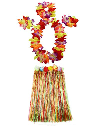 AniiKiss 1 Set 60cm Adult Hula Grass Skirt Hawaiian Party Costume Luau Dance Skirts -