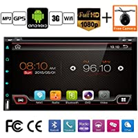 Best Wifi Model Android 6.0 Quad-Core 6.95 Full touch-screen Universal Car DVD CD player 2 din Stereo Navigation Built in and external microphone free camera