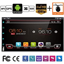 """Best Wifi Model Android 6.0 Quad-Core 6.95"""" Full touch-screen Universal Car DVD CD player 2 din Stereo Navigation Built in and external microphone free camera"""