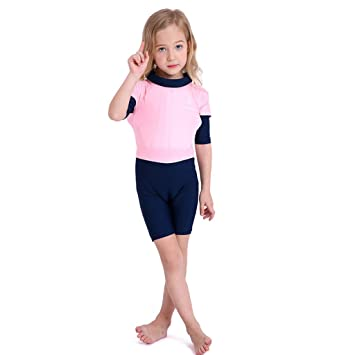Vine Kids Floatation Swimsuits One-Piece Swimsuits Life Jacket for Kids Buoyancy Swimwear for Children with Armbands