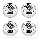 xd series center caps - 4 Pack KMC XD Series 464K131-2 8 Lug Chrome Wheel Center Cap