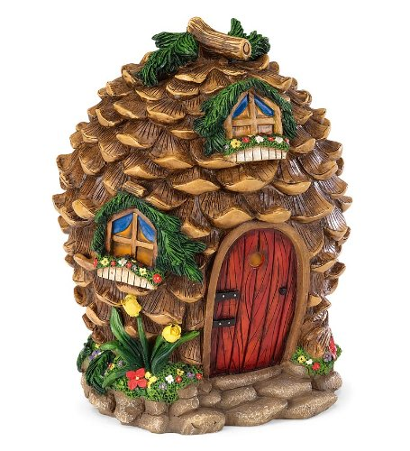 Fairy Village Houses, Resin - Hand-painted - 9''H - Set of 5 by HearthSong® (Image #5)