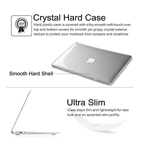 """Digital city 2 in 1 Ultra Slim Light Weight Rubberized Hard Case Cover and Keyboard Cover for Macbook Pro 13-inch 13"""" (A1278/with or without Thunderbolt) with Digital city Mouse Pad"""
