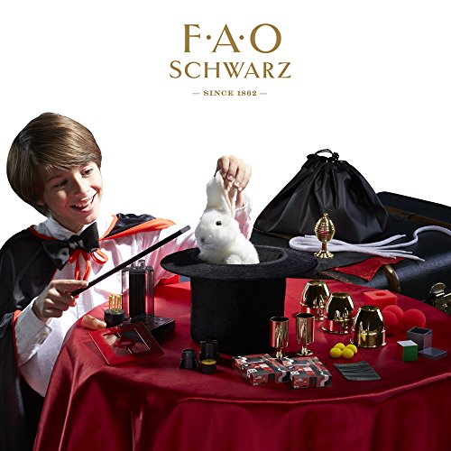 FAO SCHWARZ Premium Magic Trick Set – 300 Trick Magician's Bundle For Children – Includes Card Decks, Coin Tricks, Handkerchiefs, Fake Finger & More – Amazing Gift Idea For 8+ Year Old Boys & Girls