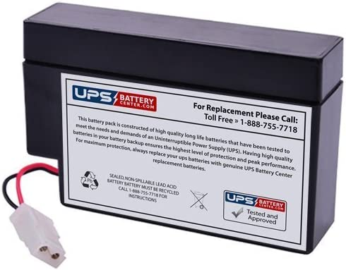 12V 0.8Ah WL Replacement Battery for Zeus PC0.8-12 by UPSBatteryCenter