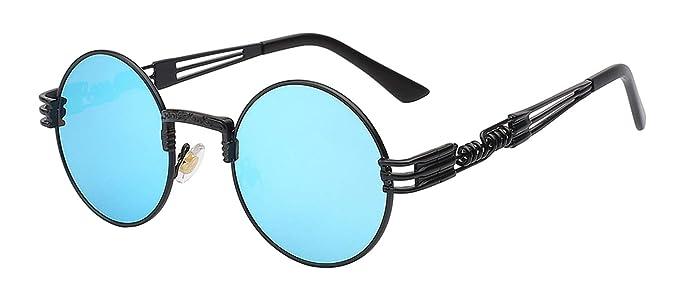 Gafas, Gafas de sol, Luxury Metal Sunglasses Men Round ...