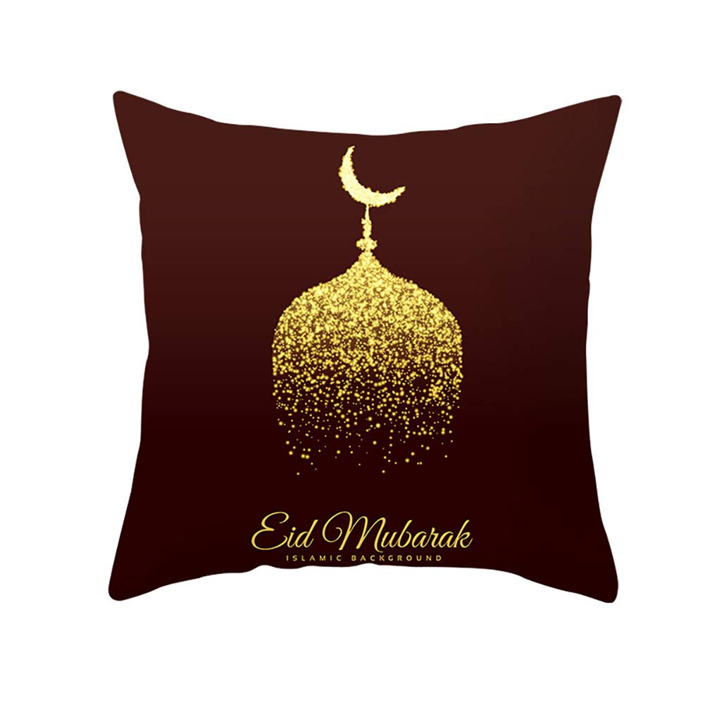 Etopfashion Muslim Ramadan Printed Cushion Cover Home Decor Pillow Covers Pillow Case Hidden Zipper Closure