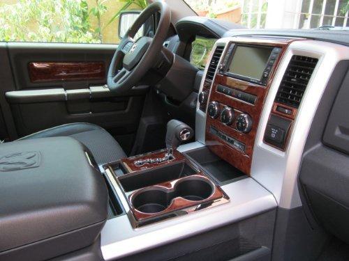 Dodge RAM 1500 2500 3500 INTERIOR BURL WOOD DASH TRIM KIT SET 2009 2010 2011 2012 (Wood Dashboard)