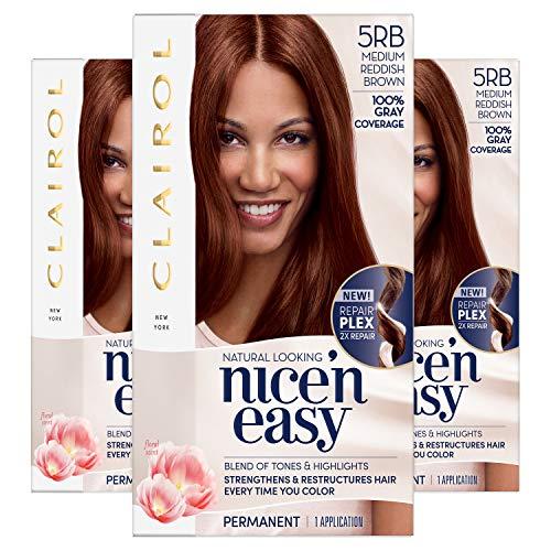 Clairol Nice'N Easy Crème 5RB Medium Reddish Brown (3 Kits)