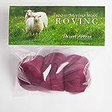 Merino Wool Roving, Premium Combed Top, 3 Colors