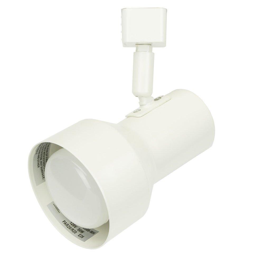 D&D Brand H System PAR20 R20 Line Voltage Track Lighting Fixture White HTC-9008-WH ( No Bulb )