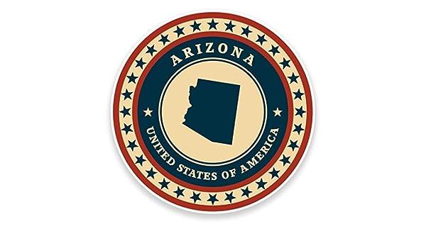2 x Arizona USA Vinyl Sticker Car Travel Luggage #9363