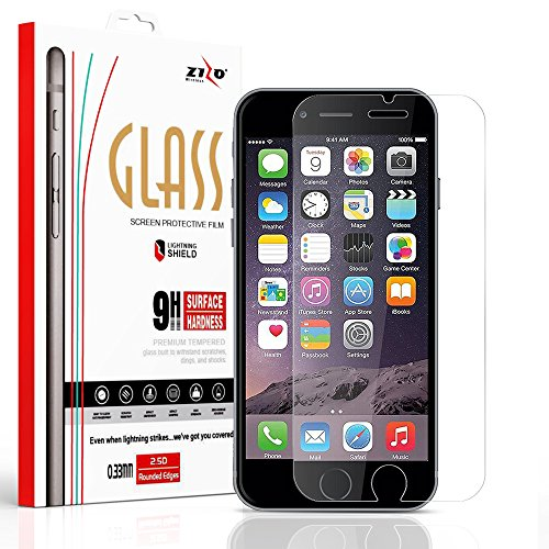 Zizo Glass Compatible with iPhone 8 Tempered Glass Screen Protector Anti Scratch 9H Hardness iPhone 7 Tempered Glass Screen Protector