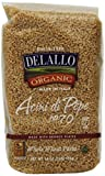 DeLallo Organic Whole Wheat Acini di Pepe #70, 16-Ounce Units (Pack of 16)