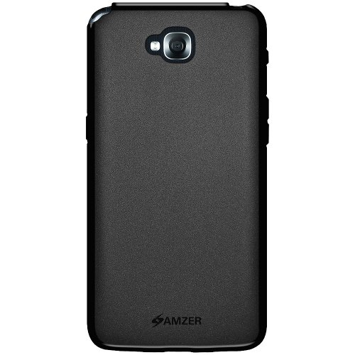 PU Case Back Cover for LG G Pro Lite D686 - Retail Packaging - Black ()